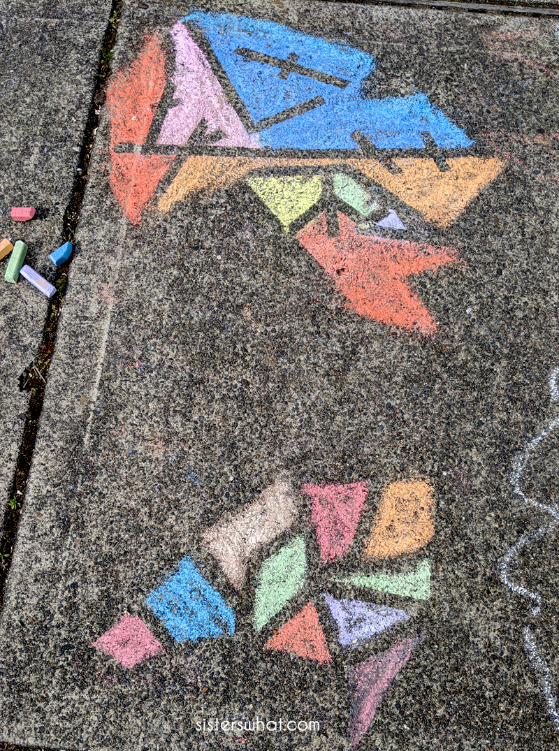 diy sidewalk chalk design