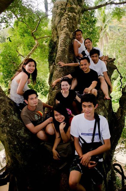 climbing, balete tree, group photo, Baler, Itinerary, Surfing, Sabang Beach, Pacific Waves Inn, Travel, Aurora, Philippines