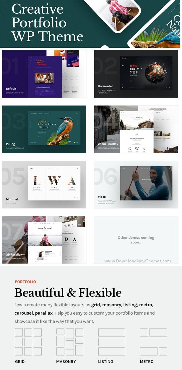 Lewis - Creative Portfolio WordPress Theme