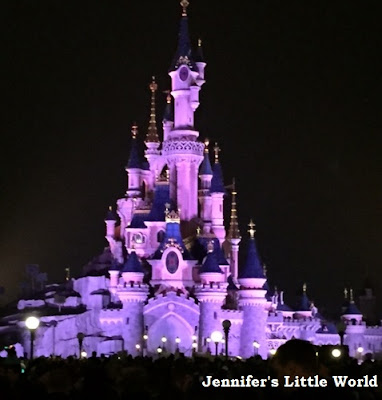 Disneyland Paris castle by night