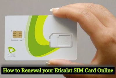 Etisalat sim card registration renewal online service