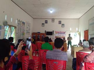 Bhabinkamtibmas Polsek Saluputti Hadiri Seminar Program Ketja KKN UKI Toraja dan Sosialisasi Tatanan Hidup Baru