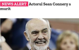 sean connery a murit a decedat la varsta de 90 ani