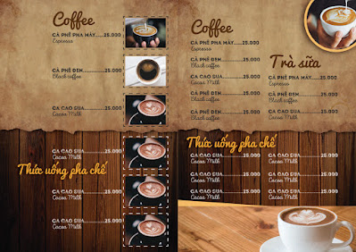 Các mẫu menu có sẵn