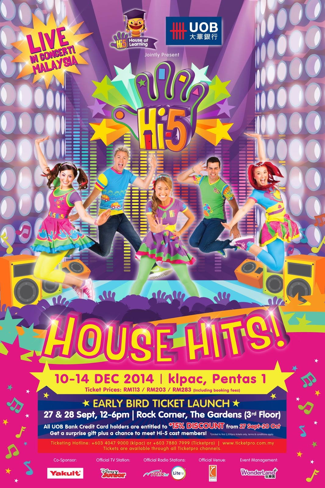 HI-5 HOUSE HITS 2014 LIVE IN MALAYSIA
