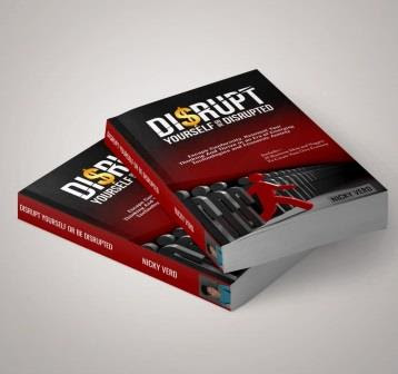Two books on top of each other: Disrupt Yourself, Or Be Disrupted