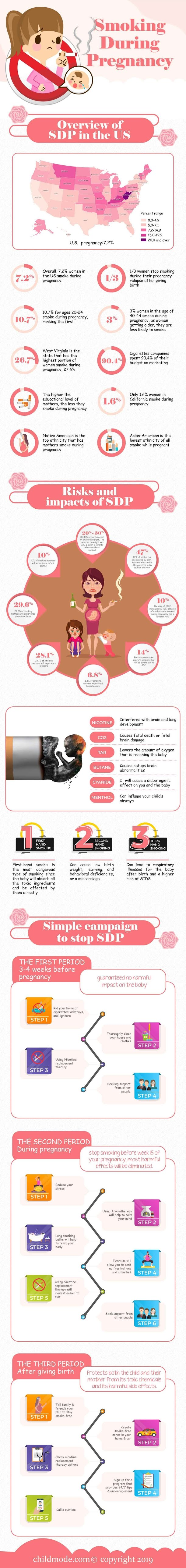Smoking During Pregnancy (SDP) – 2019 #infographic