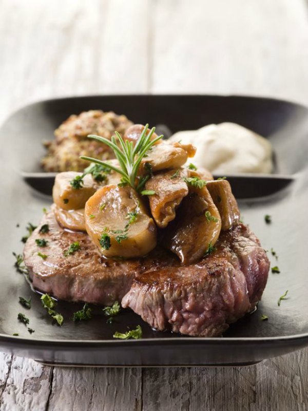 Ioanna's Notebook - Beef Fillet with Mustard and Mushroom Sauce