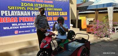 Satlantas Polresta Mataram Beri SIM Gratis Bagi Penyandang Disabilitas