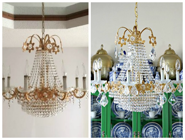Dimples and Tangles NEW VINTAGE CRYSTAL CHANDELIER AND DINING – Small Vintage Chandelier