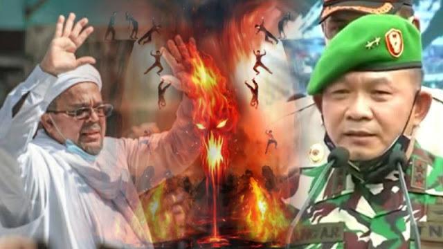 Ingatkan HRS, Pangdam Dudung 'Keseleo' Baca Ayat Al Quran soal Api Neraka