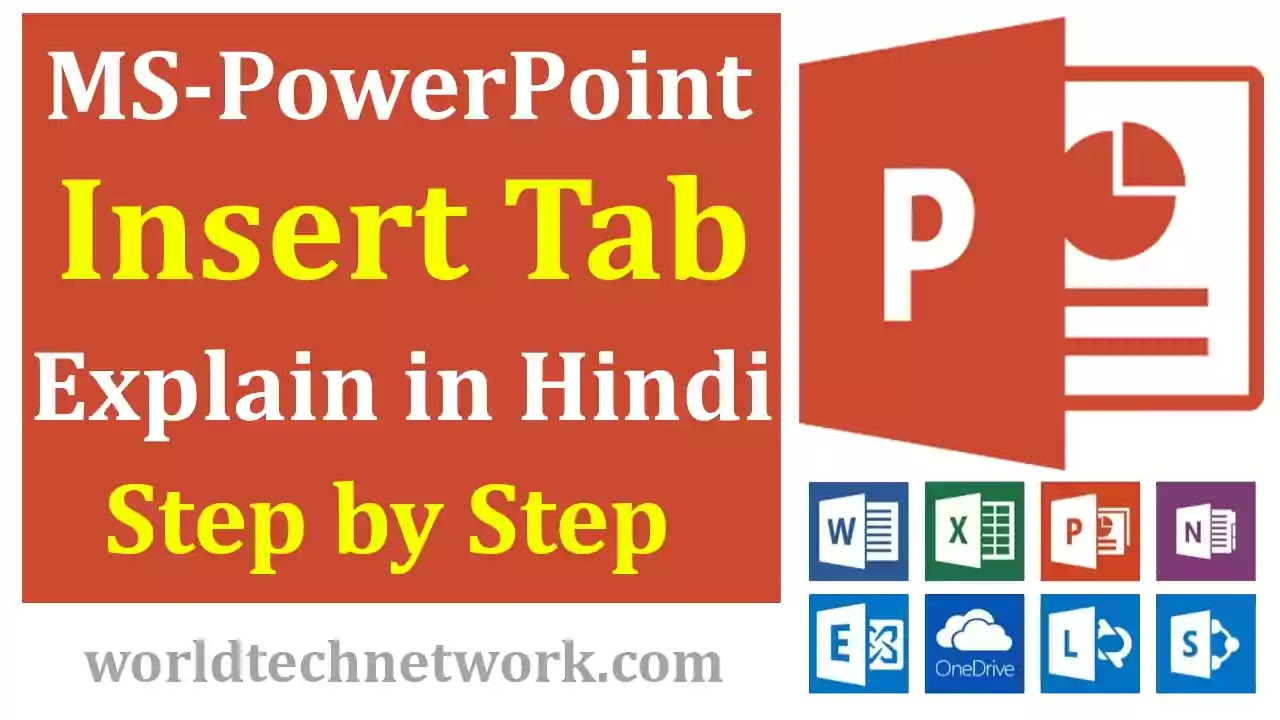 MS-PowerPoint-Insert-Tab-in-Hindi, MS PowerPoint Insert Tab in Hindi, MS PowerPoint Insert Page, Insert Tab in PowerPoint , PowerPoint Insert Page