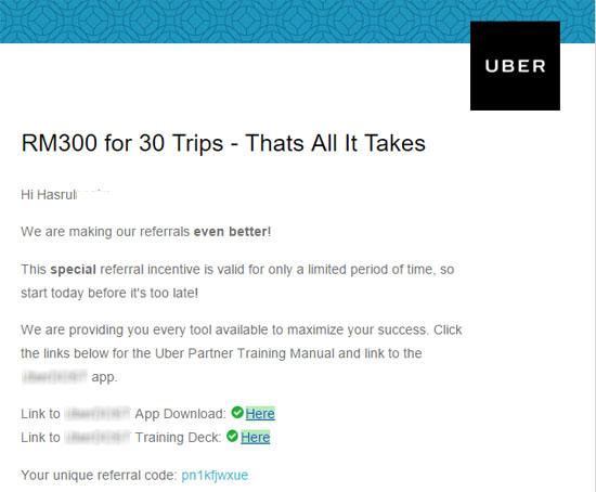 Income Sampingan Uber Tanpa Susah Payah Bawa Kereta