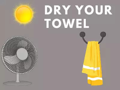 How to dry kitchen towel quickly