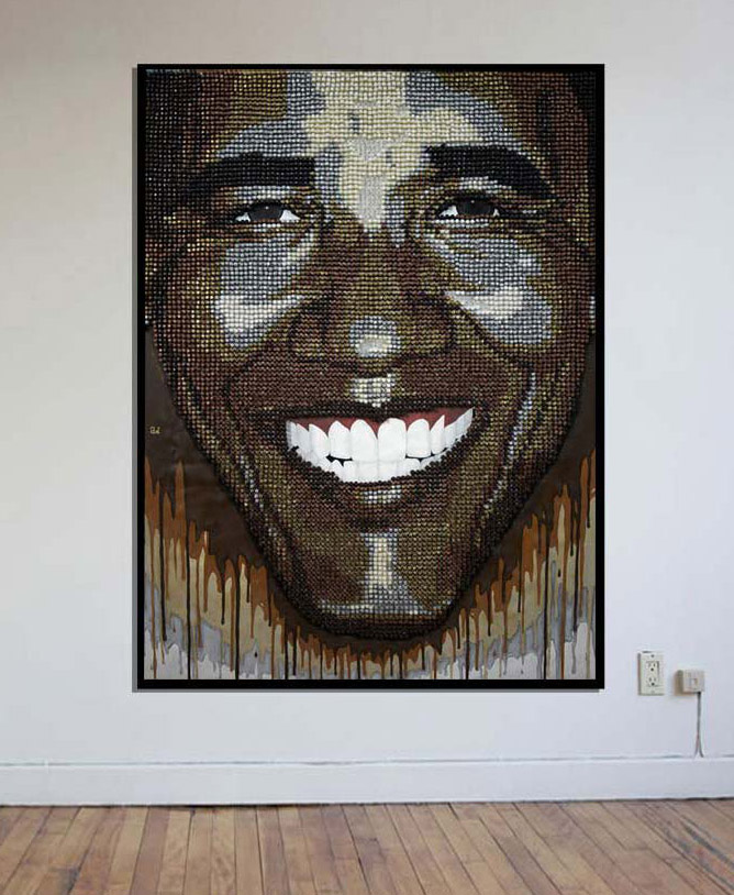 president obama made of thumbtacks