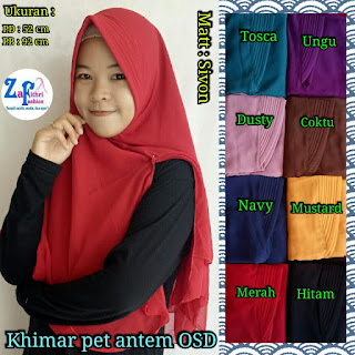 khimar pet 2 layer bahan sifon