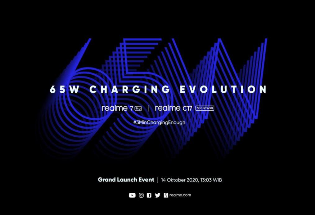 Realme 7 Pro Berteknologi 65W SuperDart Charge dan Realme C17 Hadir di Indonesia 14 Oktober 2020