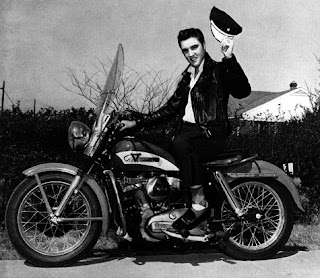 elvis on harley davidson k model