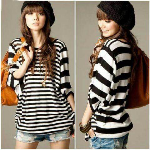 Jual Blouse Big Stripes Blouse - 12589