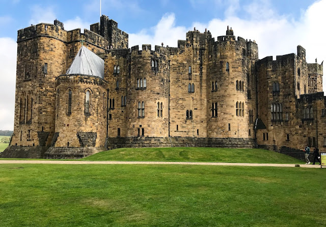 Outside of Alnwick Castle in Northumberland