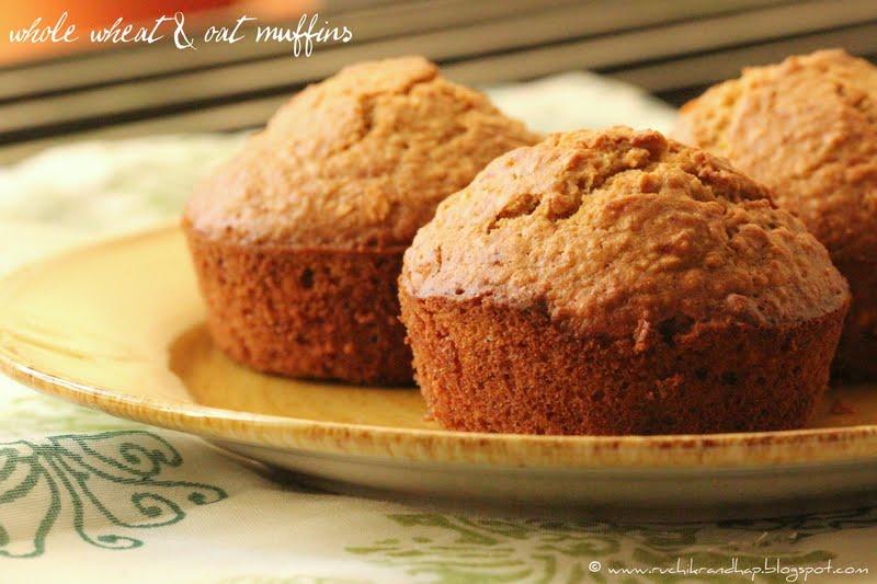 Whole Wheat & Oat Muffins - Ruchik Randhap