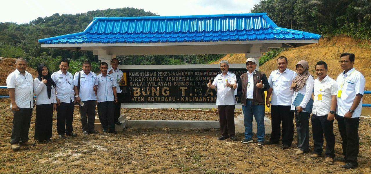 PDAM Kotabaru Bersama SKPD Meninjau Persiapan Operasional Waduk Tirawan