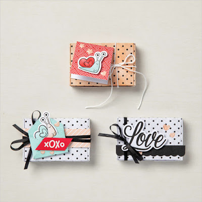 Labels boxes and images included in the Little Love Boxes Add-On to January Paper Pumpkin Kit