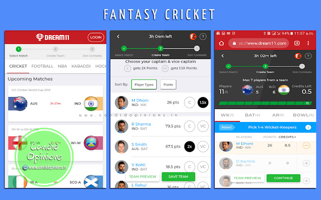 Dream11 Fantasy Cricket