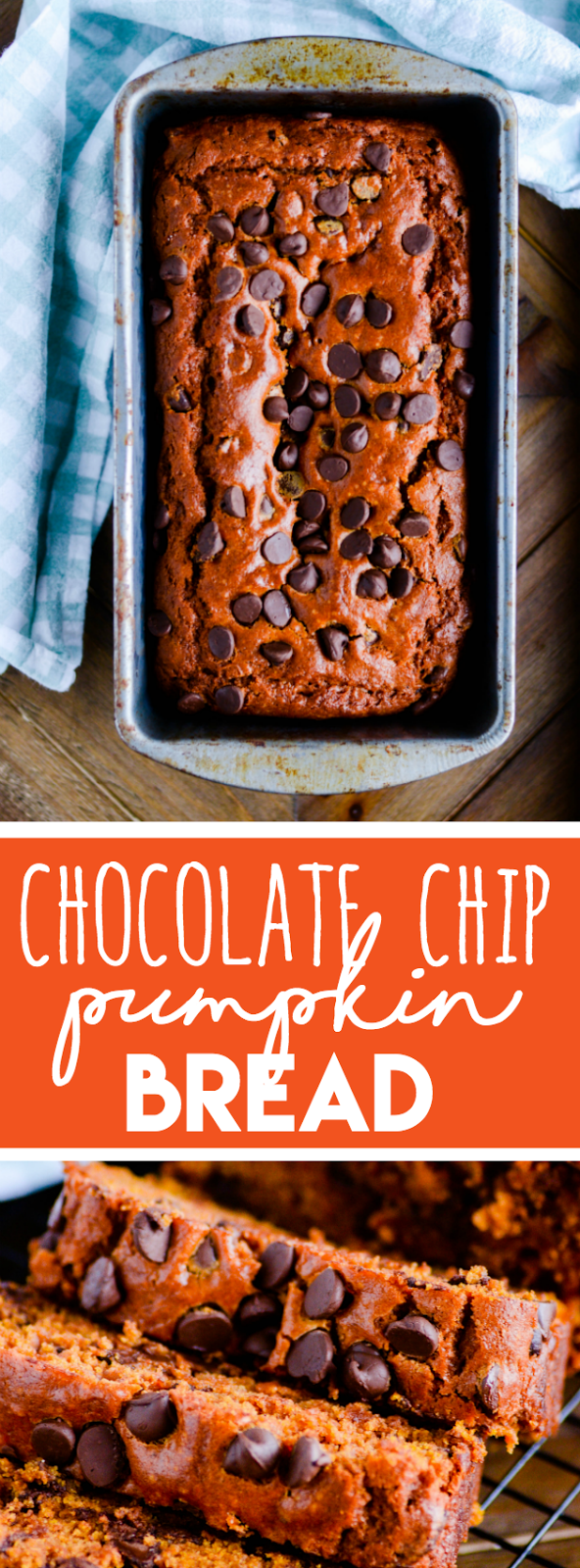 If you love pumpkin bread, this is the recipe you've been searching for. Moist, perfectly spiced, and just the right amount of chocolate chips!