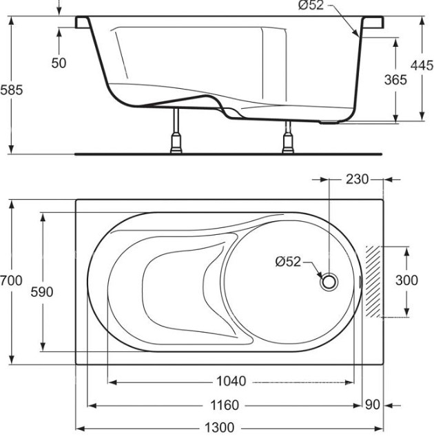 Oversized Bathtub - Standard Tub Size for Your Bathroom