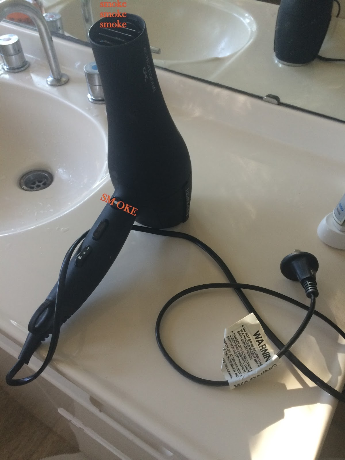 Where there's Smoke - Or Why I Need a Dyson Hair Dryer