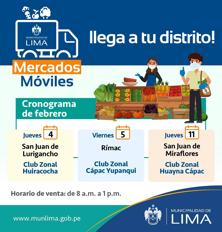 El Mercado Mayorista Móvil llega a San Juan de Lurigancho