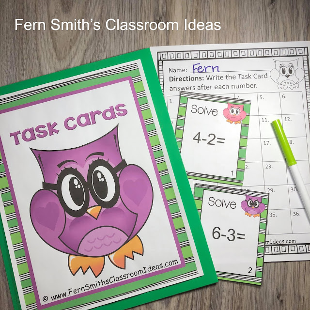Click Here to Download these Cute Owl Themed Addition and Subtraction Task Cards for Your Class Today!