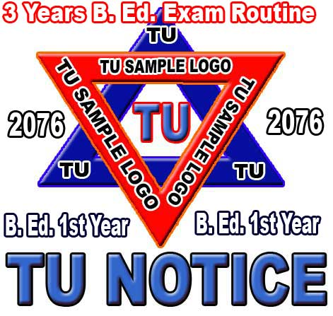 B Ed first Year Exam routine