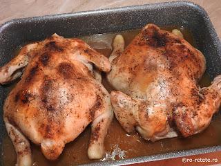 Pui intreg cu bere preparare reteta de casa la cuptor retete culinare fripturi cu sos si mancaruri cu carne de pasare,