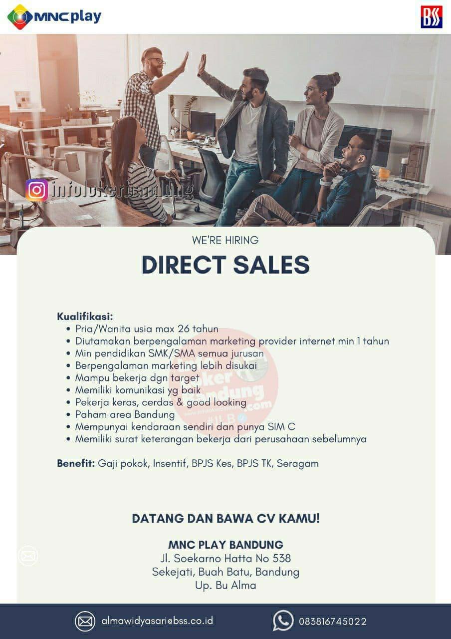 Lowongan Kerja Direct Sales MNC Play Bandung Mei 2021