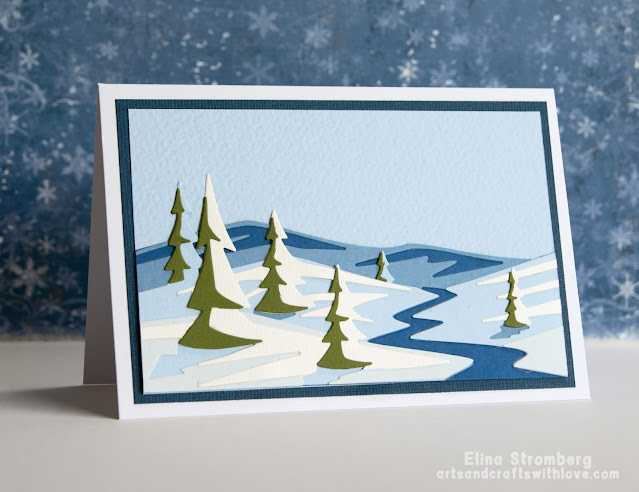 Winter scenery cards for Christmas