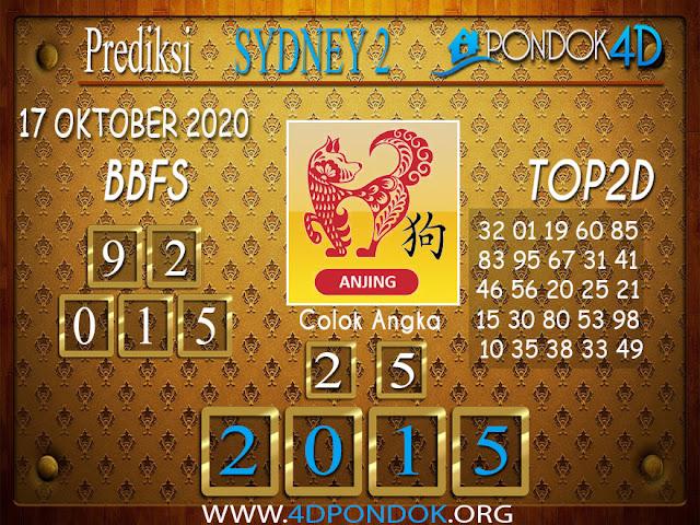 Prediksi Togel SYDNEY 2 PONDOK4D 17 OKTOBER 2020