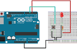 Menyalakan LED dengan Push Button Menggunakan Arduino UNO