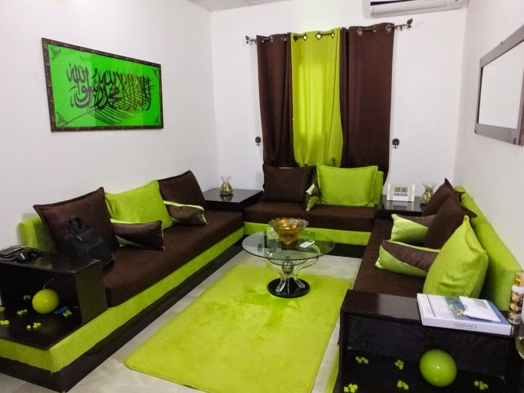 Salon marocain contemporain vert