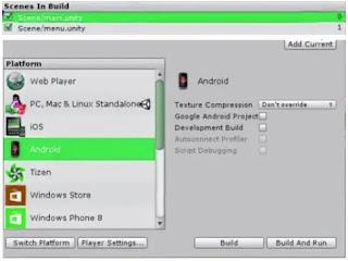 تصدير المشروع كتطبيق في Unity Game Engine