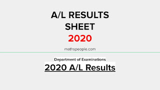 Download 2020 A/L Results Sheet