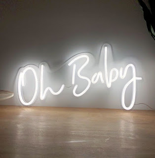 Oh Baby neon sign rental