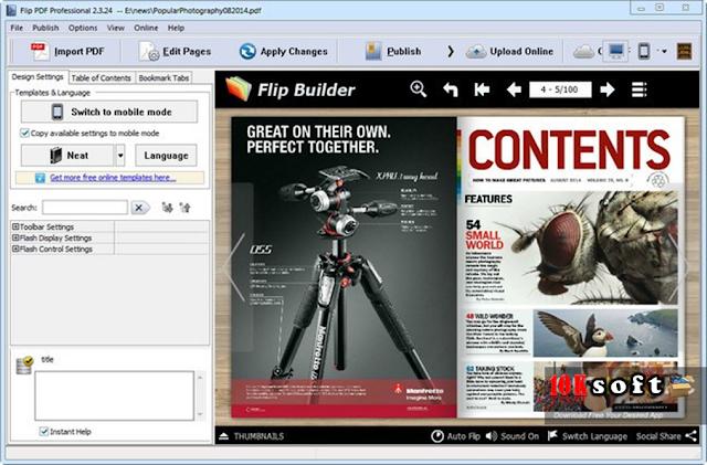 FlipBuilder Flip PDF Professional Latest version Free Download