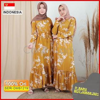 Dmb1219 Dress Wanita Aina Maxy Dress Flower Bkk Hits Wanita Hijab Muslimah