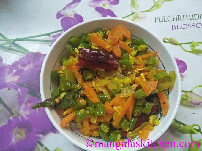 Carrot Beans Poriyal | Carrot Beans Stir Fry | Classic South Indian Poriyal