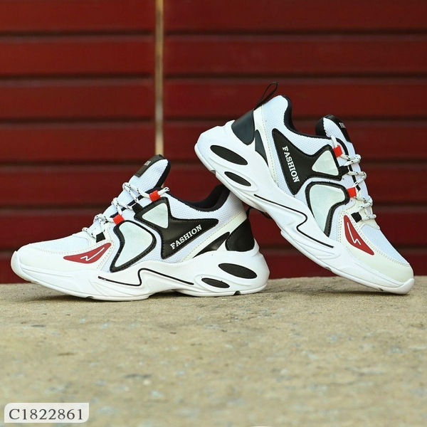 Bucik Synthetic Leather Lace- Up Sports Shoes For Men  Sports Shoes For Men Online Shopping  