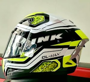 INK YELLOW FLUO SERI 5 Full Aksesoris | Helm Makassar