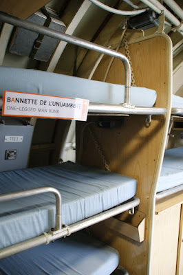 Le cuccette del sottomarino Flora di Lorient