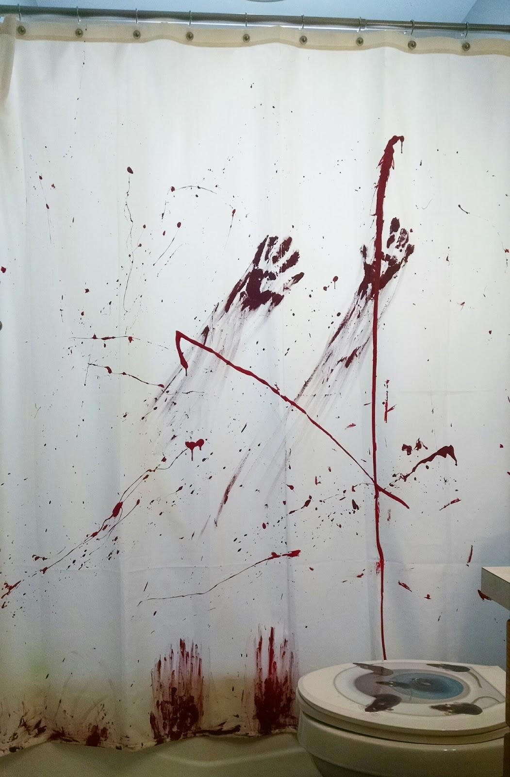 diy halloween bloody shower curtain